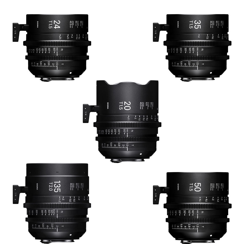 Sigma 20/24/35/50/85mm T1.5 5 FF High Speed Prime Lens Kit