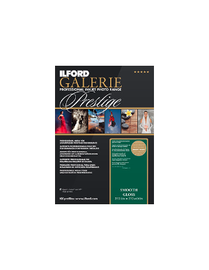 "Ilford Galerie Prestige Smooth Gloss 310gsm 5x7"" 100 Sheets 12.7x17.8cm GPSGP"