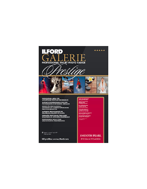 "Ilford Galerie Prestige Smooth Pearl (310gsm) 8.3x11.7"" (21x29.7cm) A4 25 Sheets GPSPP"